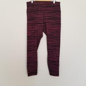 Lululemon Athetica pink & black 3/4 leggings 12